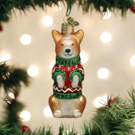 Christmas Corgi Ornament