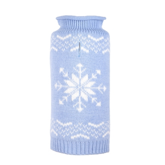 Snowflake Icy Blue Sweater