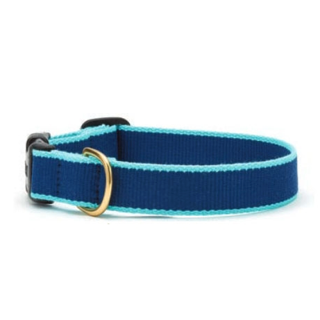 Green Market Navy and Aqua Dog Collar