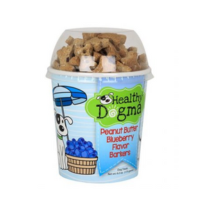 Peanut Butter Blueberry Dog Treats 6.2 oz Cup