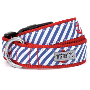 Navy Stripe Anchors Collar