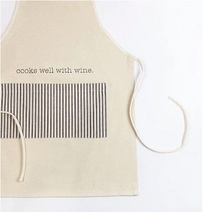 Cooks Well With Wine Apron