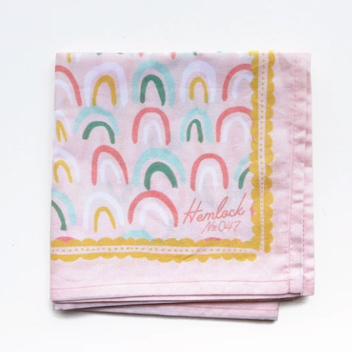 Rainbows Premium Cotton Handmade Bandana