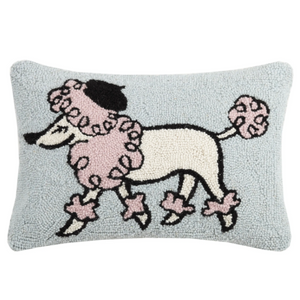 Pink Poodle Decorative Hook Pillow