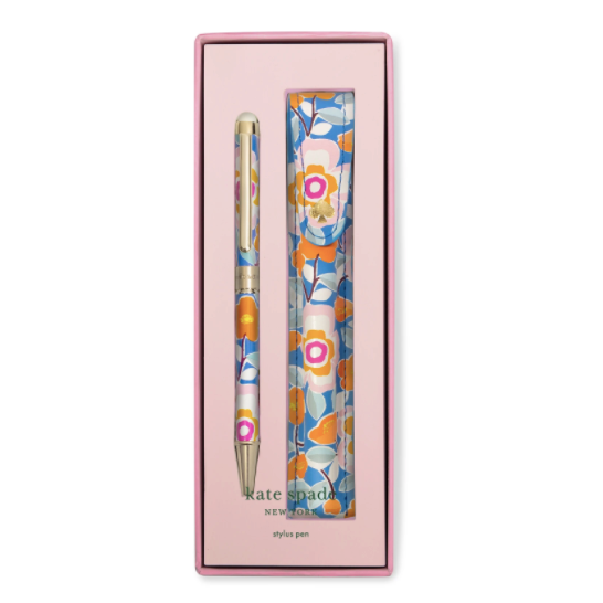 kate spade new york stylus pen with pouch, pop floral