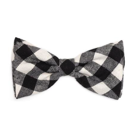 Black Buffalo Check Bow Tie