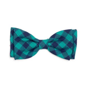 Green/Navy Buffalo Plaid Bow Tie
