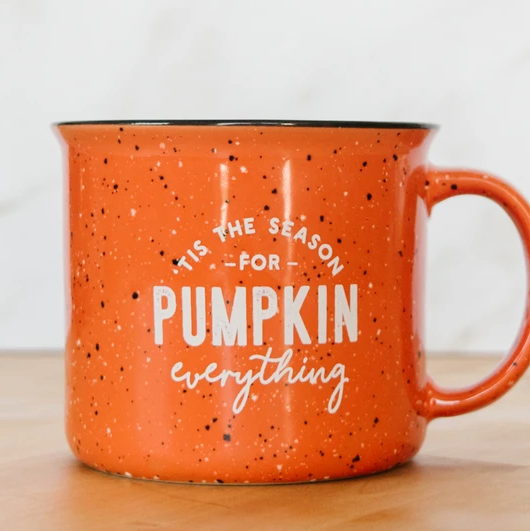 Tis the Season for Pumpkin Everything Campfire Mug