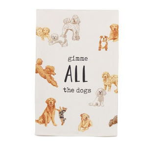 Gimme All The Dogs Watercolor Towel