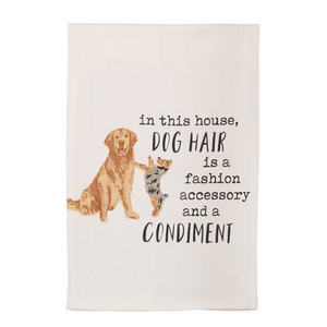 Dog Hair Watercolor Towel