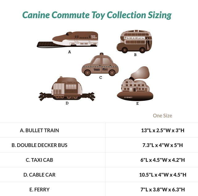 Canine Commute - Choice of Toy