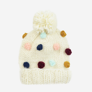 Percy Dot | Acrylic Hand Knit Adult Hat