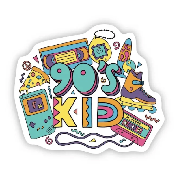 90's Kid Sticker