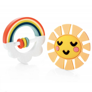 Little Rainbow Teether Toy - Set of 2