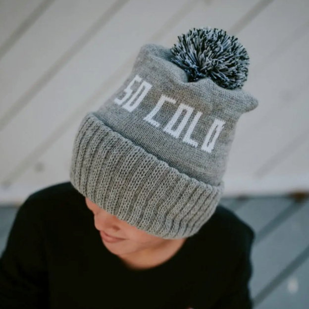SO COLD - Winter Knit Hat Gray