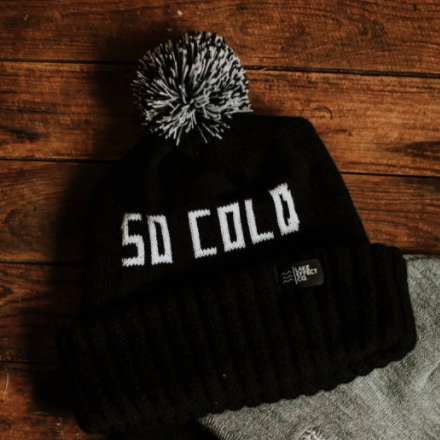 SO COLD - Winter Knit Hat Black