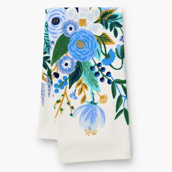 Garden Party Blue Tea Towel