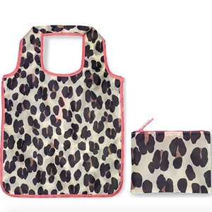 Reusable Shopping Tote with Zipper Storage Pouch