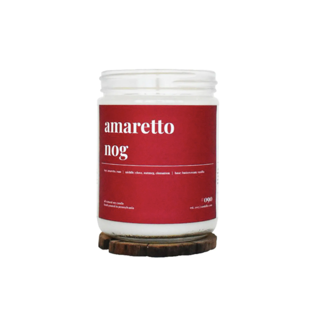 Amaretto Nog Scented Soy Candle - 16oz