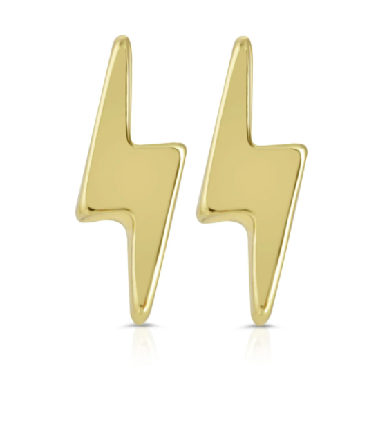 New Moon Gold Earrings - ELECTRIC/BOLT