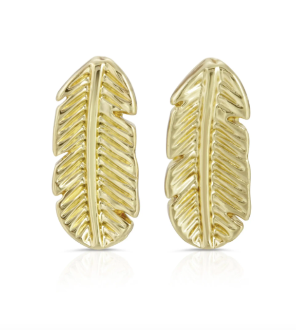 New Moon Gold Earrings - NATURAL BEAUTY/LEAF