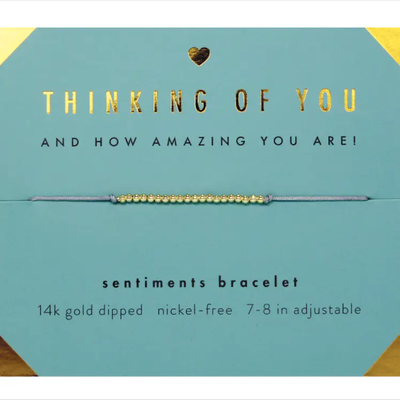 Sentiments Bracelet - GOLD - Thinking of You