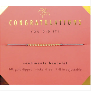 Sentiments Bracelet - GOLD - Congratulations