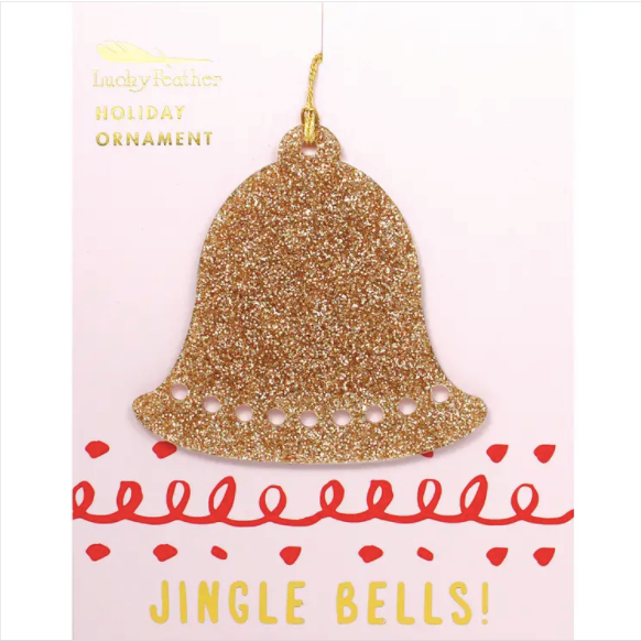 Gold Glitter Ornament - Shape - BELL