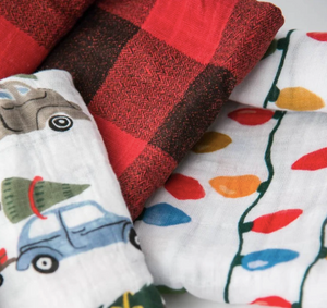 Cotton Muslin Swaddle Blanket Set - Holiday Haul Set of 3