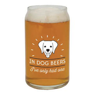 Dog Beers Can Glass
