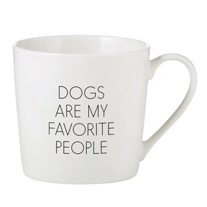 Dogs Are My Favorite People Cafe Mug