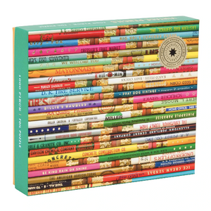 Phat Dog Vintage Pencils 1000 Piece Foil Stamped Jigsaw Puzzle