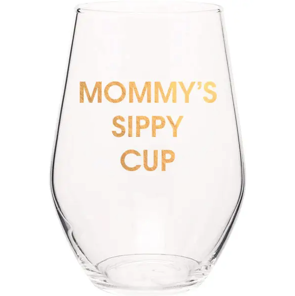 Mommy's Sippy Cup Wine Glass - 19 oz