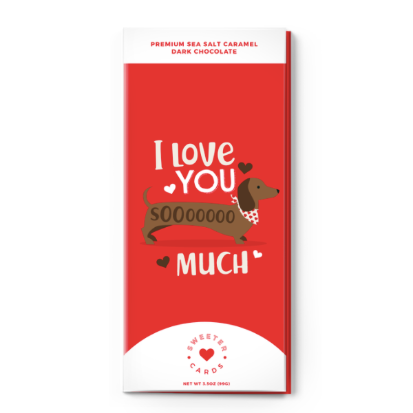 I Love You SoOoO Much Valentine's Day  Sea Salt Caramel and Dark Chocolate