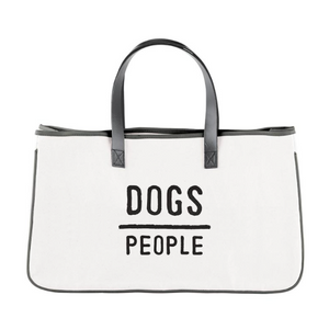 Dogs / People Canvas Tote
