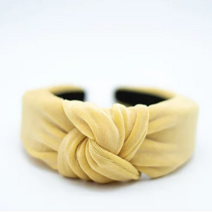 Knotted Headband - Honey