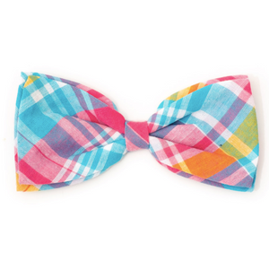 Madras Plaid Turquoise/Pink/Multi Bow Tie