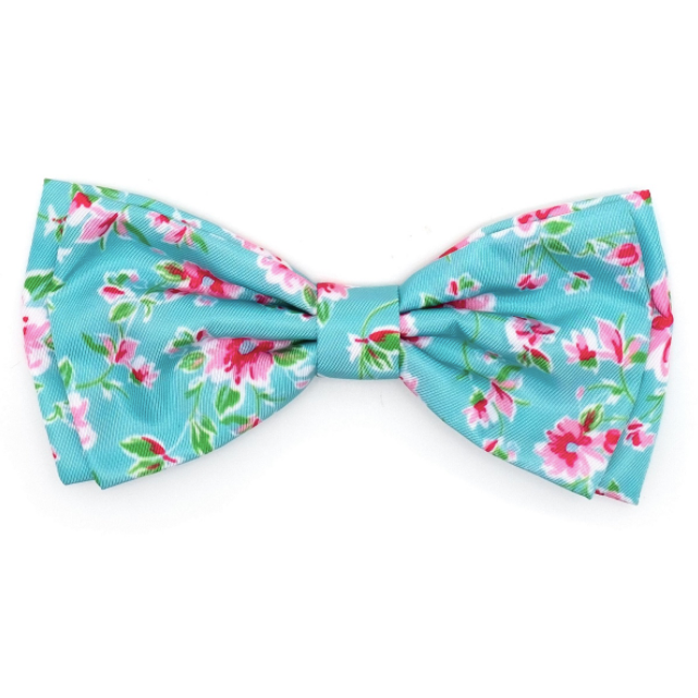 Watercolor Floral Bow Tie