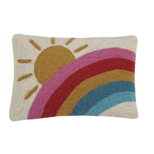 Sun And Rainbow Hook Pillow