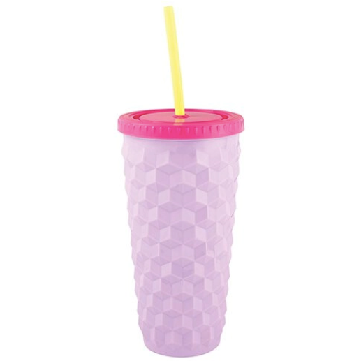 Purple Geo Tumbler 18 oz
