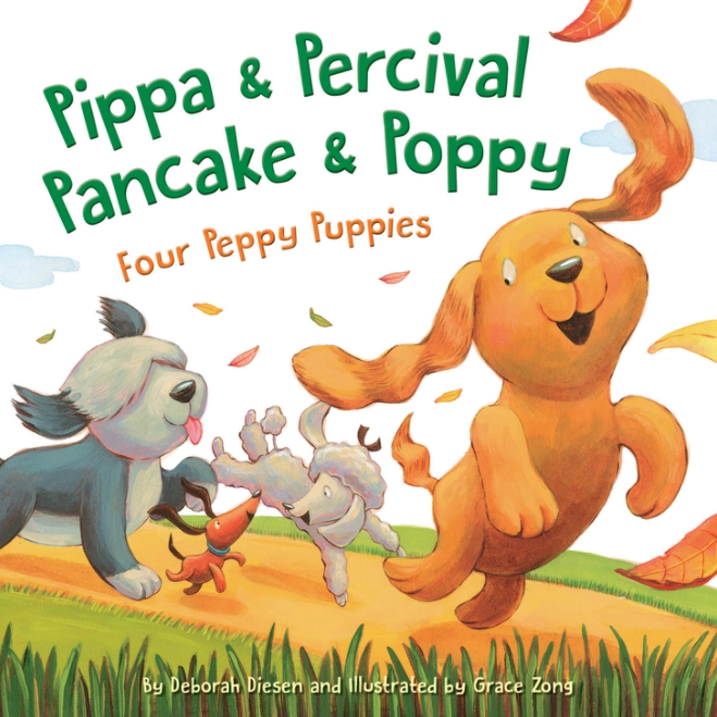Pippa and Percival, Pancake and Poppy: Four Peppy Puppies Children Picture Book