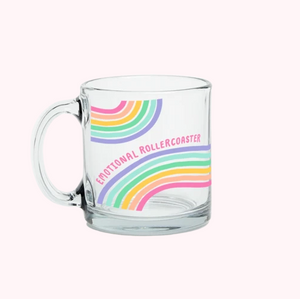 Emotional Rollercoaster Glass Mug