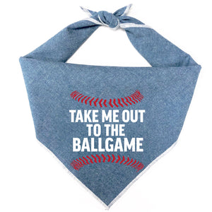 Take Me Out to the Ballgame Dog Bandana