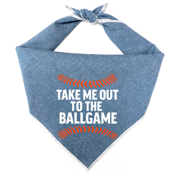 Take Me Out to the Ballgame Dog Bandana - Detroit Edition
