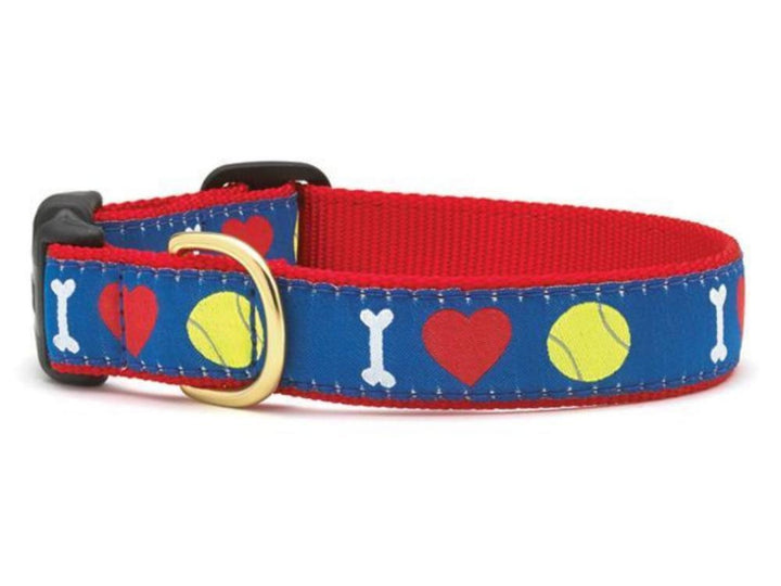 I (heart) Tennis Dog Collar