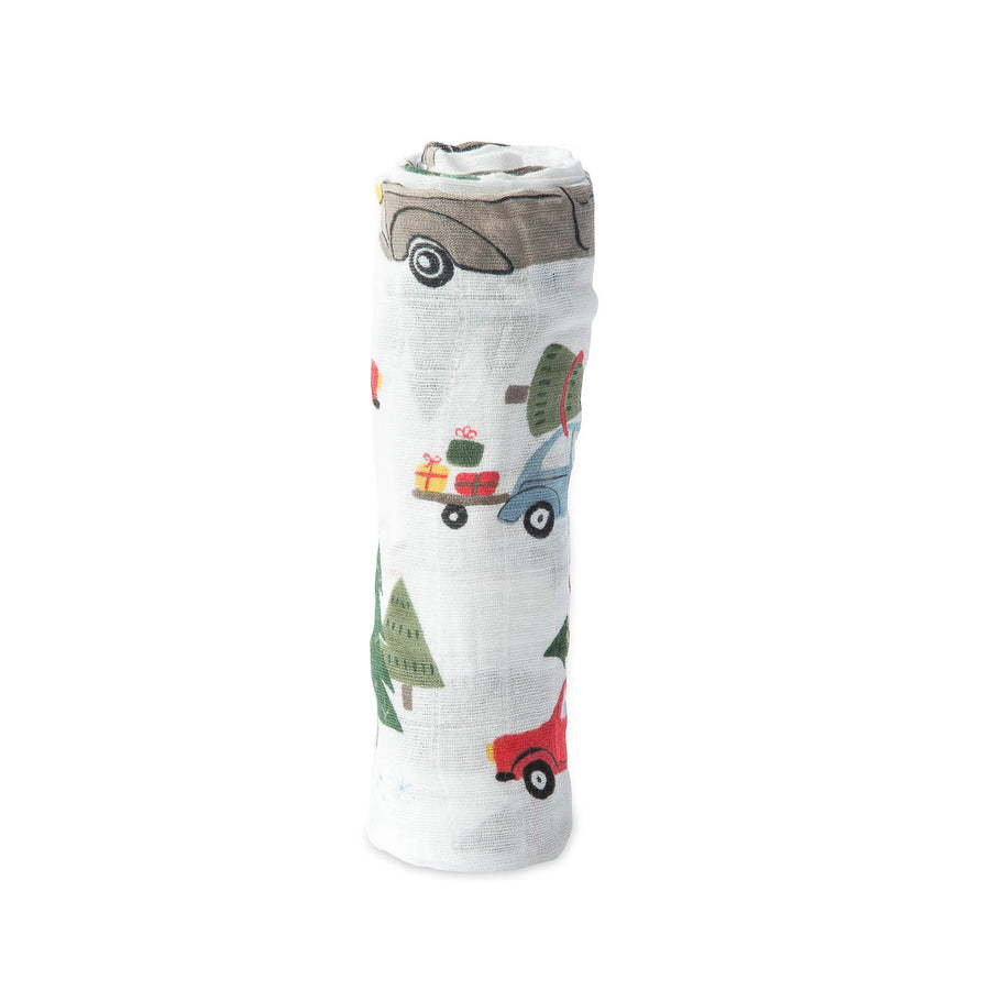 Cotton Muslin Swaddle Blanket - Holiday Hauls