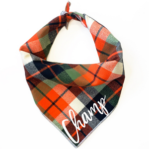Harvest Flannel Dog Bandana