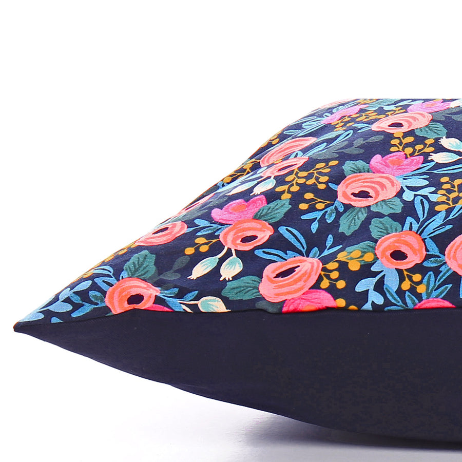 The Foggy Dog - Rosa Floral Navy Dog Bed-Small