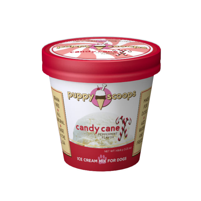 Puppy Scoops Ice Cream Mix - Candy Cane (Peppermint)