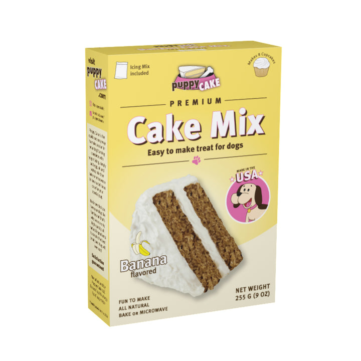Puppy Cake Mix and Frosting - Banana